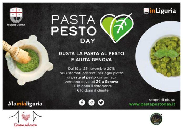 Pasta Pesto Day: dal 19 al 25 novembre uniti per Genova