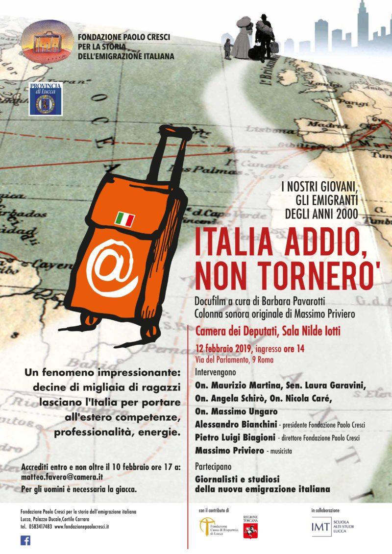Italia addio, non tornerò, docufilm sulla fuga dei giovani dal nostro paese