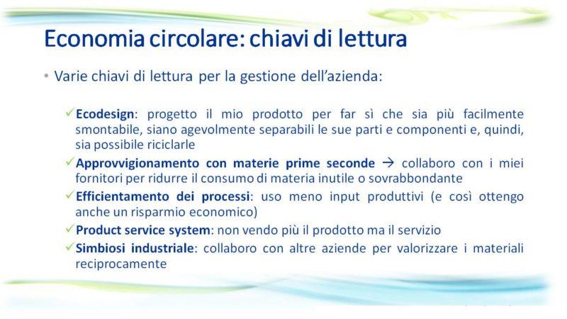 Economia circolare per sostenere la produttività delle PMI