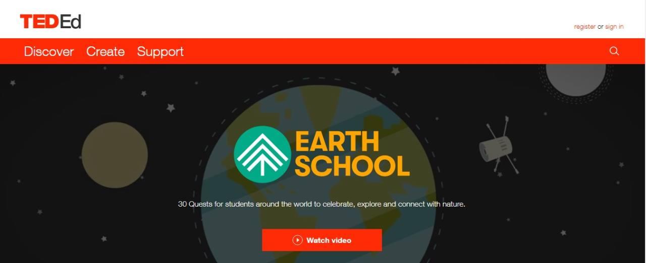 A scuola di ambiente con Earth School, l'avventura didattica online nella natura.