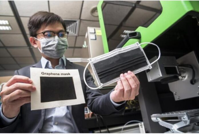 Mascherina in grafene per rendere innocui virus e batteri