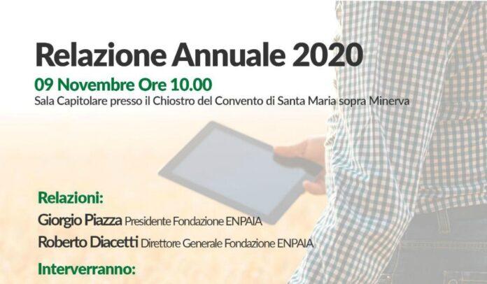 Presentazione della relazione annuale Enpaia 2020, in diretta streaming