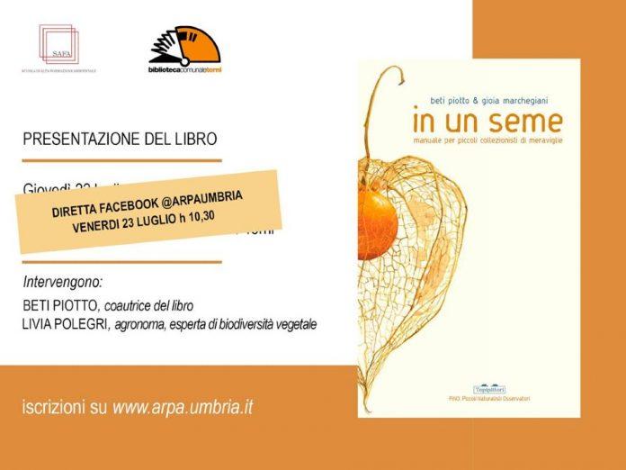 'In un seme. Manuale per piccoli collezionisti di meraviglie', presentazione del libro on line