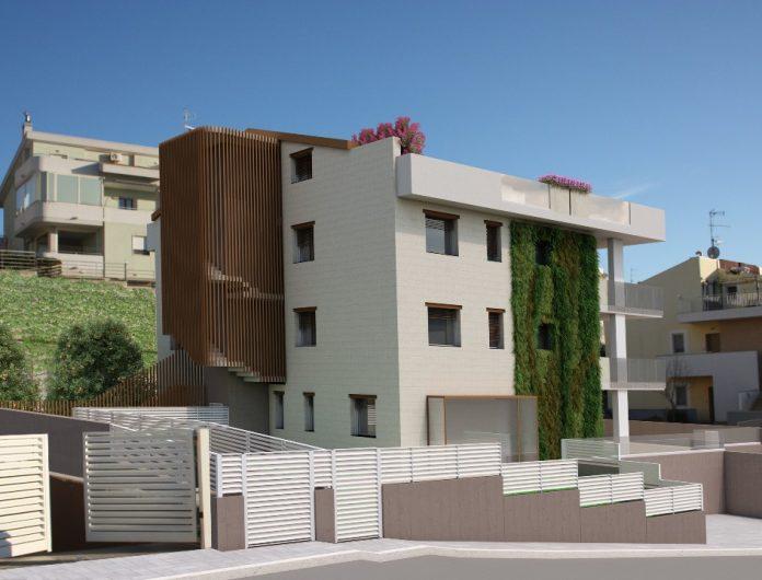 Pietra Solare, nel cuore di Matera il primo edificio green con giardino verticale a impatto zero della Basilicata